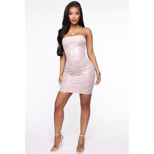 Fashion Nova Blush Mini Dress Women's NWT